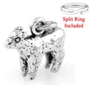 STERLING SILVER BABY LAMB/ SHEEP W/ SPLIT RING