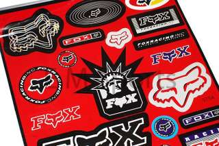 Dirt Pit Bike Atv Fox Racing Stickers Decal Parts RED