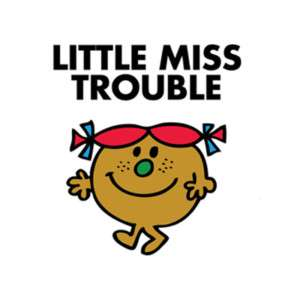 LITTLE MISS TROUBLE T SHIRT IRON ON TRANSFER 2 DESIGNS