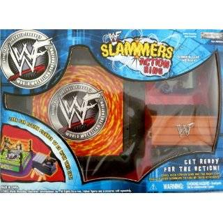 WWE WWF SLAMMERS ACTION RING, CAGE & TITLE BELT For 3 Inch