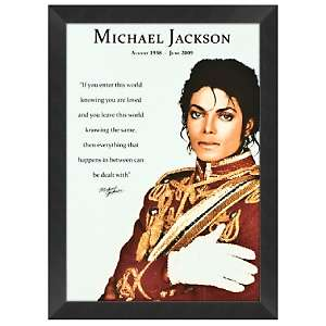 Michael Jackson 19 x 23 Love Quote Framed Poster