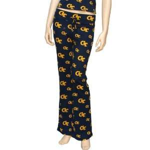 Yellow Jackets Ladies Navy Blue Tandem Pajama Pants