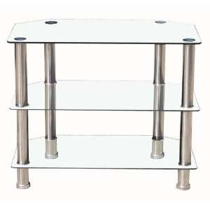 Modern Clear Tempered Glass TV Stand