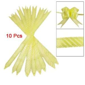 Pcs Gift Wrapping White Slanting Stripe Yellow Pull Bows Poly Ribbons