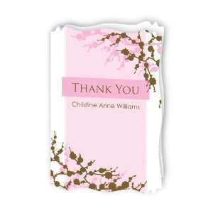 Personalized Bridal Shower Thank You Cards With Squiggle Shape