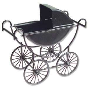 Dollhouse Miniature Black Baby Carriage Toys & Games