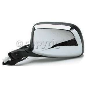 Fo1320124 Door Mirror, Power, W/O Signal, Chrome/Black, Drivers Side