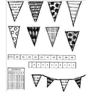 Cling Rubber Stamp Set Bags Of Bunting Arts, Crafts & Sewing