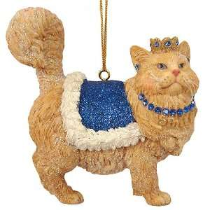 December Diamonds Royal Spoiled Kitty Cat Christmas Ornament