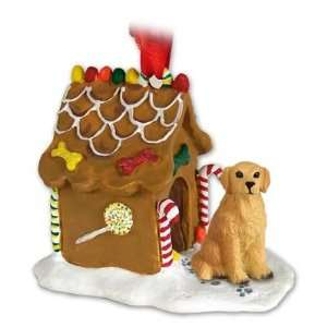 Golden Retriever Ginger Bread Dog House Ornament