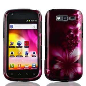 Samsung Galaxy Blaze 4G 4 G T769 T 769 Rose Red Floral Flowers Design