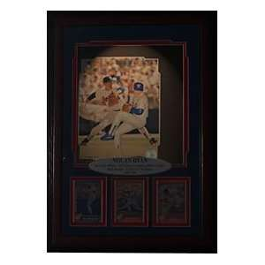 Nolan Ryan Autographed / Signed Framed Statue Backlit Shadow Box
