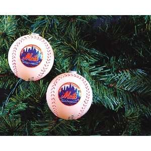 Set Of 10 New York Mets Baseball Logo Christmas Lights