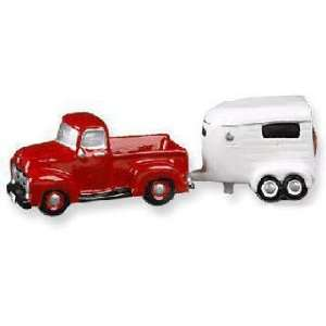 Ford Truck and Horse Show Trailer Salt & Pepper Shakers