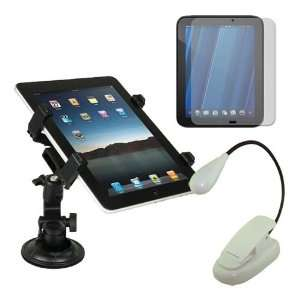 White LED Light + Car Holder for HP Touchpad 9.7 Tablet Electronics