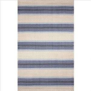 Stripe Blue Indoor / Outdoor Rug Size 8 x 10