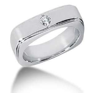 Men s Diamond Ring 1 Round Stone 0.15 ct 144 MDR1289