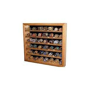 Military Coin Display Case Mirror Back