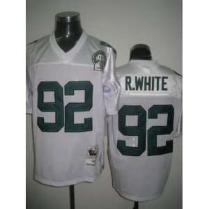NFL Jerseys #92 Reggie White THROWBACK WHITE Authentic Football Jersey