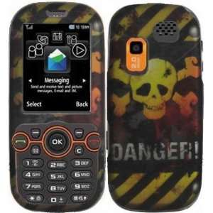 Danger Hard Case Cover for Samsung T404G Cell Phones & Accessories