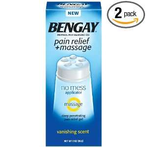 Bengay Pain Relief + Massage 3 Ounce (Pack of 2) Health