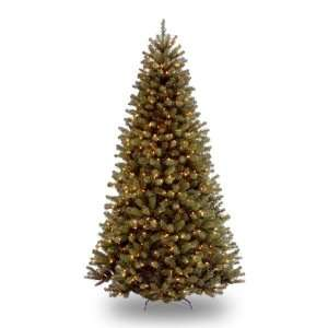 National Tree 7 1/2 Foot Prelit Artificial North Valley Spruce Tree