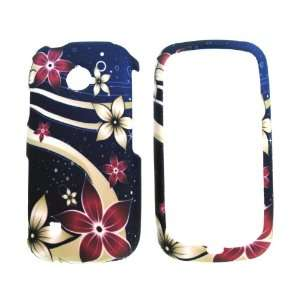 Brown Red Galaxy Flower Design Rubberized Snap on Hard Skin