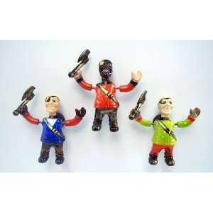 Axe Pirate   Refrigerator Bobble Magnet (Set of 3)