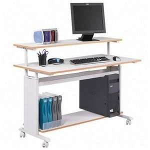 Safco® Extra Wide Adjustable Height Workstation, 48w x 25d x 41 1