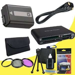 Lithium Ion Replacement Battery + Mini HDMI Cable + Multi Card USB