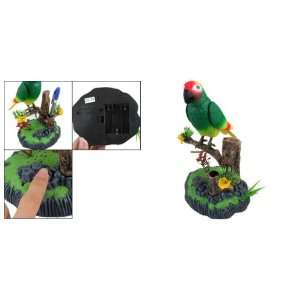 Como Voice Control Sound Activated Chirping Parrot Toy
