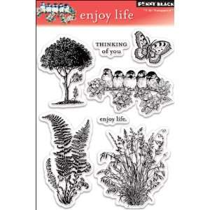 Penny Black Clear Stamp Set, Enjoy Life Arts, Crafts