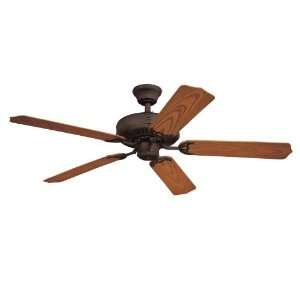 Inch Five Blade Ceiling Fan, Oil Rubbed Bronze with Dark Cherry Blades