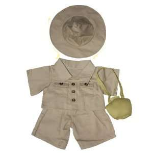 Safari Outfit w/Hat and Satchel Outfit Teddy Bear Clothes Fit 14   18