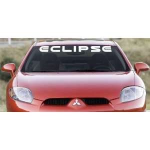 Eclipse Windshield Banner Wall Decal No Logos 36x3