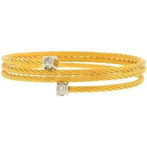 Inox Jewelry Womens Braided Loop Gold pvd 316L Stainless Steel Bangle