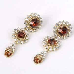 Fashion Shining Golden SWAROVSKI Style Crystal Flower Water