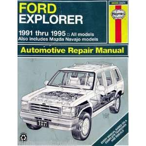 Haynes Repair Manual   Ford Explorer/Mazda Navajo SUV