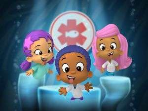 Custom Bubble Guppies Theme Edible Cake Topper Image