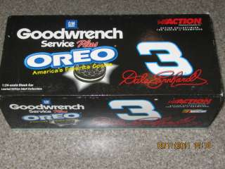 DALE EARNHARDT SENIOR 1/24 SCALE 2001 GOODWRENCH OREO #3 THIS IS THE