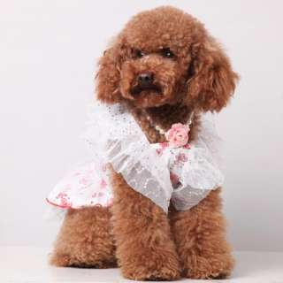 Pet Dog Formal Dress Butterfly style Puppy Clothes Apparel Costume