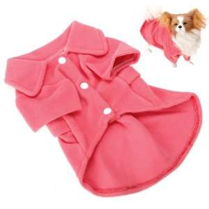 Polar Fleece Pet Dog Coat Dress Apparel Red   Size XXL