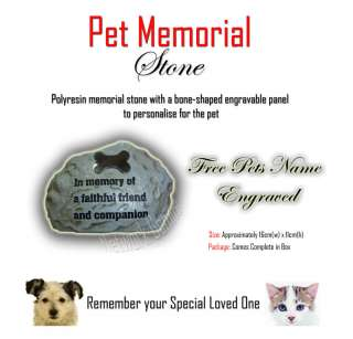 Pet Memorial Stone Cat & Dog ( Free Engraving )