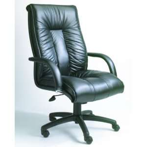 EXECUTIVE OFFICE ITALIAN BLACK LEATHER CHAIR/SEAT Kitchen