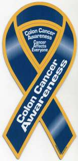 Colon Cancer Awareness Ribbon Magnet. Place this ribbon magnet on your
