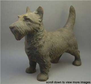Vintage Painted Cast Iron Scottish Terrier Scottie Dog Doorstop