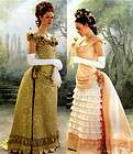 3012 OOP Victorian/Civil War Bustle Gown Costume Pattern Sz 6 10